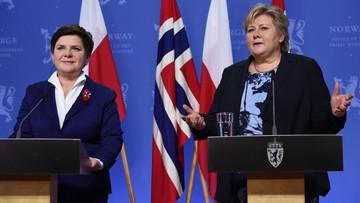 02-02-2016 15:56 Szydło po spotkaniu z premier Norwegii: dywersyfikacja źródeł energii wyzwaniem dla Polski