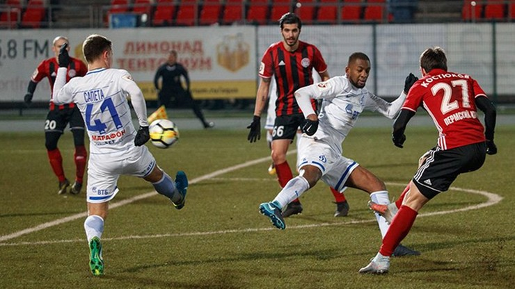 Bramka Gola w meczu z Dynamo Moskwa