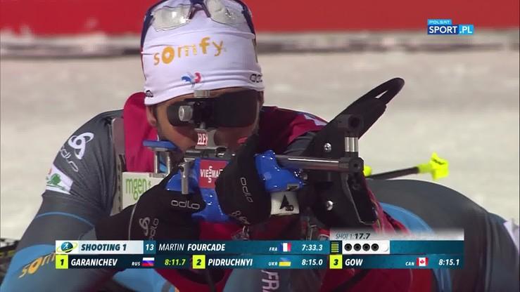 Boe minimalnie wyprzedził Fourcade'a w Oestersund. Skrót sprintu