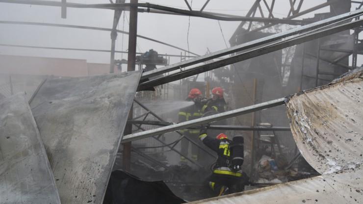 Wybuch w hali magazynowej w Radomiu. Jedna osoba w szpitalu