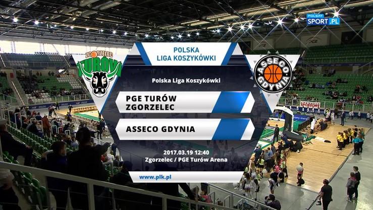 PGE Turów Zgorzelec – Asseco Gdynia 100:79. Skrót meczu