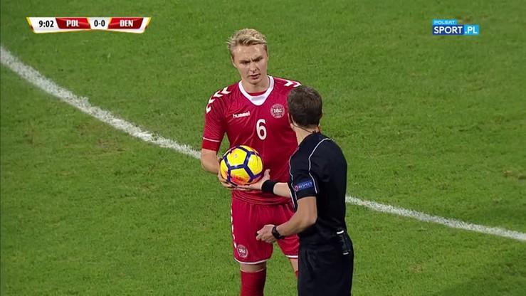 Niedopompowana piłka zmorą Duńczyków! Kilka prób zmiany futbolówki