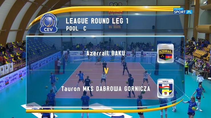 Azerrail Baku - Tauron MKS Dąbrowa Górnicza 3:1. Skrót meczu