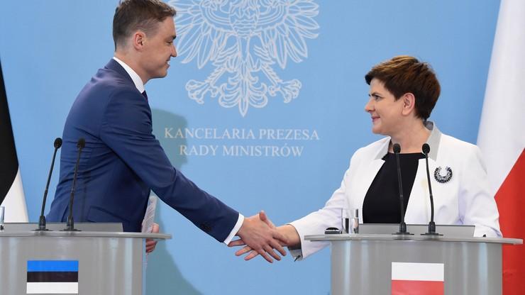 """""""Bezpieczeństwo Polski i Estonii zależy od uzgodnień podczas szczytu NATO"""". Premier o rozmowach z Taavi Roivasem"""