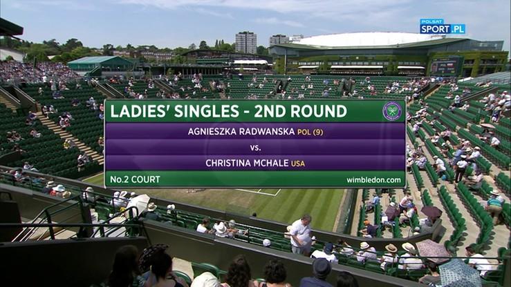 Agnieszka Radwańska - Christina McHale 2:1. Skrót meczu