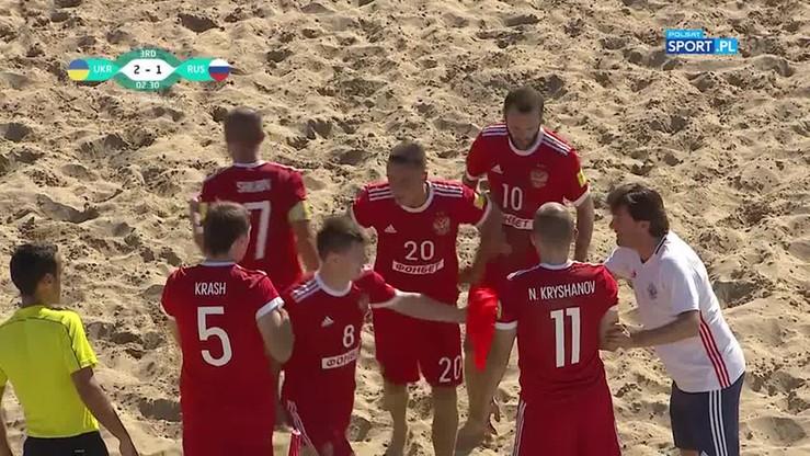 Beach soccer: Szalona końcówka meczu Rosja - Ukraina!