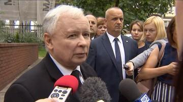 """27-06-2016 15:26 Kaczyński za Brexit wini Tuska. """"Powinien zniknąć z polityki"""""""