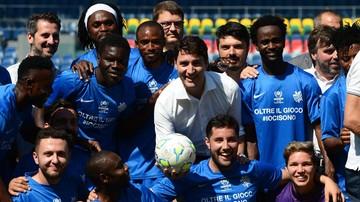2017-05-29 Premier Kanady na meczu uchodźców i piłkarek
