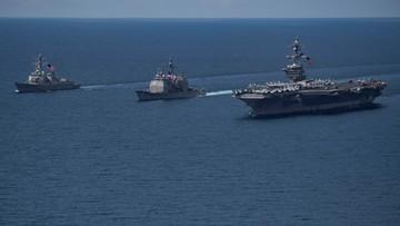 """23-04-2017 11:46 Korea Północna deklaruje gotowość ataku na amerykański lotniskowiec """"jednym uderzeniem"""""""