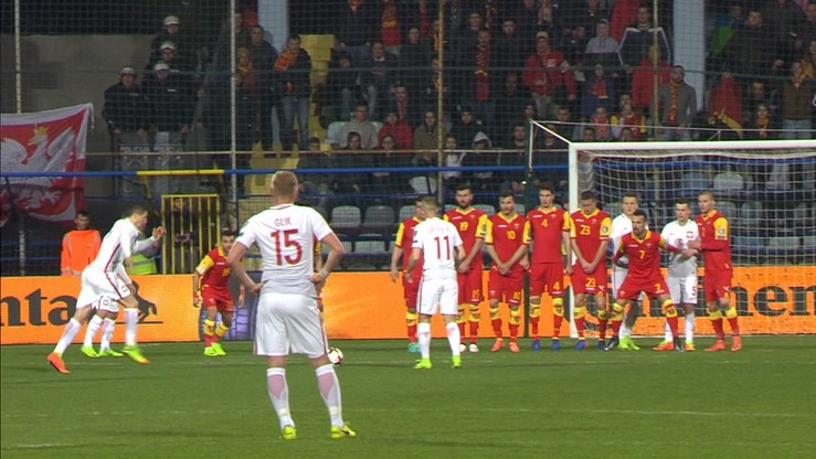 Czarnogóra - Polska 0:1. Gol Lewandowskiego