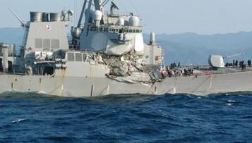 17-06-2017 06:58 Amerykański niszczyciel zderzył się z japońskim statkiem