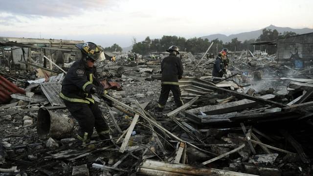 Meksyk: 26 osób zginęło w wybuchu fajerwerków na targowisku