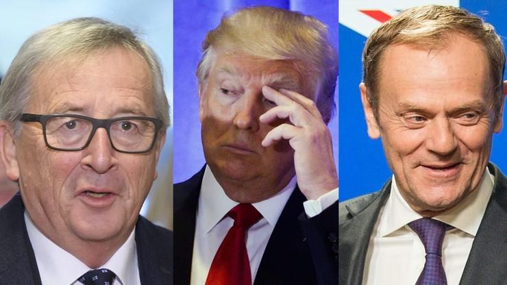 Pomyłka Trumpa. Rozmawiał z Tuskiem, a myślał, że z Junckerem