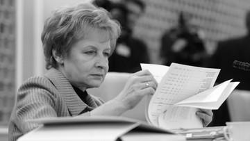 Nie żyje Zyta Gilowska