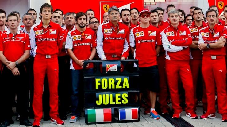 Kierowcy F1 solidarni z Bianchim przed GP Rosji