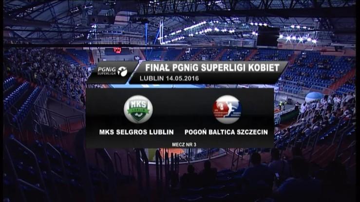 MKS Selgros Lublin - Pogoń Baltica Szczecin 30:23. Skrót meczu