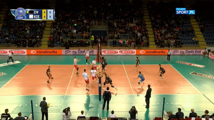 Cucine Lube Civotanova – Asseco Resovia Rzeszów 3:0. Skrót meczu