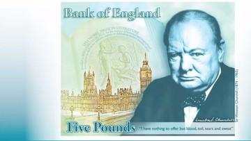 02-06-2016 17:11 Oto pierwszy brytyjski plastikowy banknot. Pięciofuntówka z wizerunkiem Churchilla