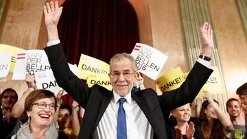 23-05-2016 16:48 Alexander Van der Bellen minimalnie wygrał wybory prezydenckie w Austrii