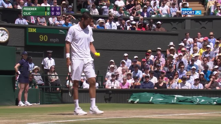 Wimbledon: Cilic rozbił Federera do zera