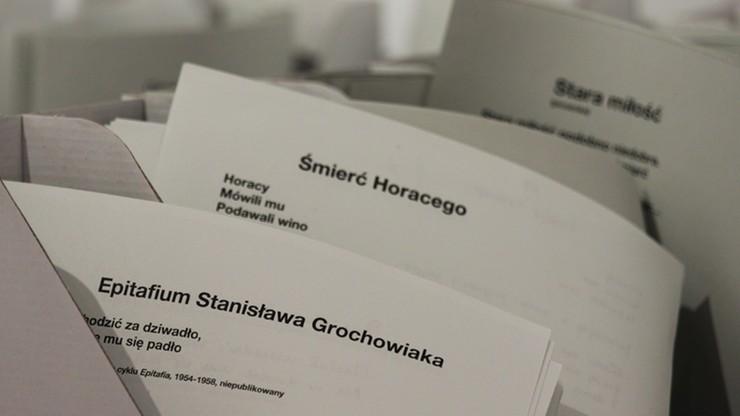 Wydano niepublikowane wiersze Stanisława Grochowiaka