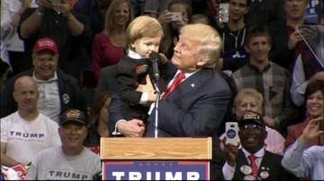 11-10-2016 18:18 Chłopiec skradł show Donalda Trumpa