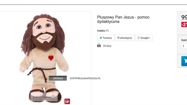 Pluszowy Jezus na święta - duchowni grzmią, producent się rozkręca