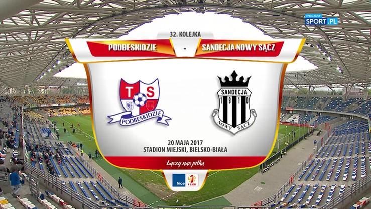 2017-05-20 Podbeskidzie Bielsko-Biała - Sandecja Nowy Sącz 2:1. Skrót meczu