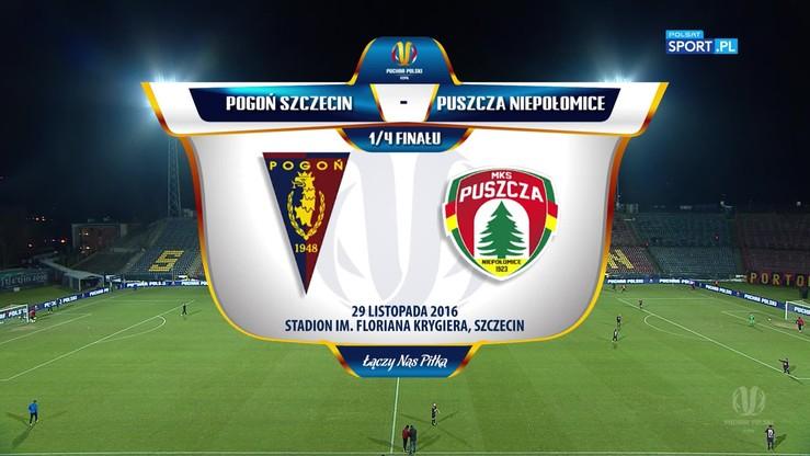 Pogoń Szczecin - Puszcza Niepołomice 2:0. Skrót meczu