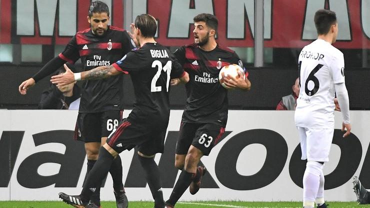 Liga Europy: Pewne zwycięstwo i awans Milanu. Grali Góralski i Kędziora