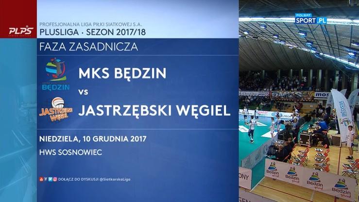 2017-12-10 MKS Będzin - Jastrzębski Węgiel 3:2. Skrót meczu