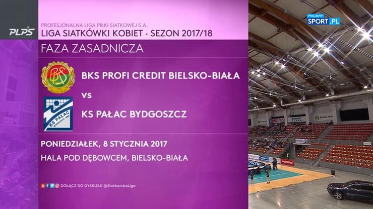 LSK: BKS PROFI CREDIT Bielsko-Biała - KS Pałac Bydgoszcz 3:0. Skrót meczu
