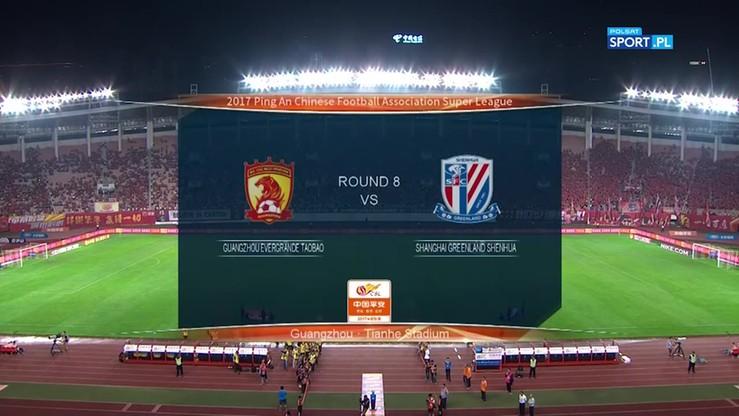 Guangzhou Evergrande - Shanghai Greenland Shenhua FC 3:2. Skrót meczu
