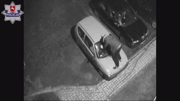 12-03-2017 18:46 Pijany mężczyzna skakał po samochodzie. Zdarzenie zarejestrował monitoring