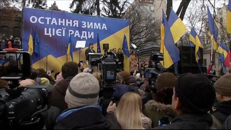 """2 tys. demonstrantów na wiecu Saakaszwilego w Kijowie. """"Tworzymy nową klasę polityczną"""""""