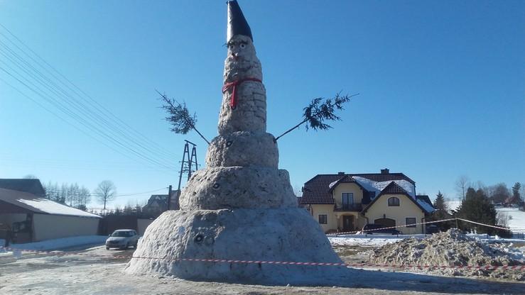Bałwan gigant na Orawie