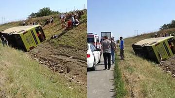 11-07-2017 14:54 Wypadek polskiego autobusu z dziećmi w Serbii. Zginęła jedna osoba, są ranni