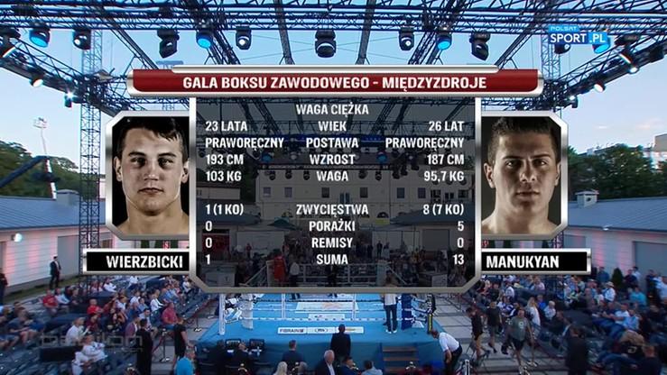 Paweł Wierzbicki - Mischa Manakyan. Skrót walki