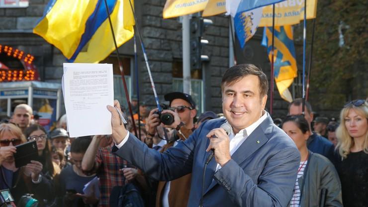 Saakaszwili żąda dokumentów ws. pozbawienia go obywatelstwa