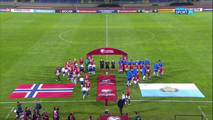 2017-10-05 San Marino - Norwegia 0:8. Skrót meczu