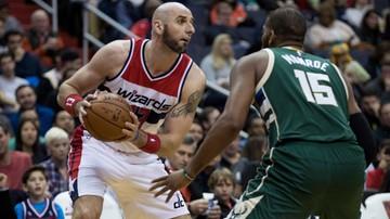 2016-12-11 NBA: Dziewiąta wygrana Wizards i dziewięć punktów Gortata