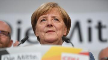 """24-09-2017 19:44 """"Liczyliśmy na trochę lepszy wynik"""".  Merkel po zwycięstwie w wyborach"""