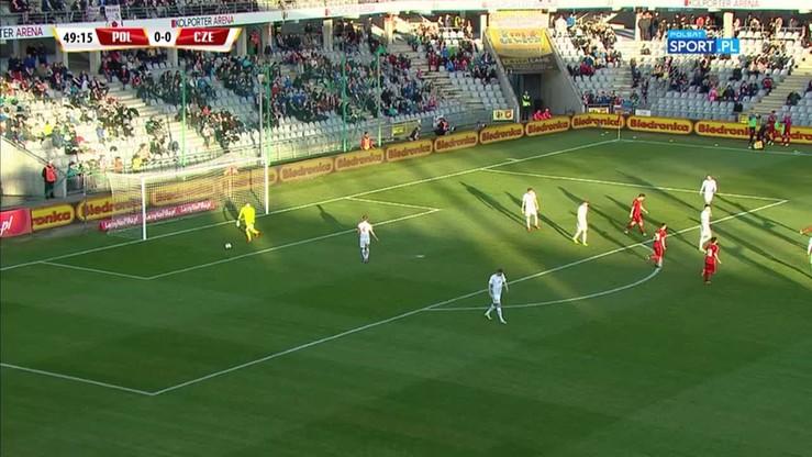 Polska U-21 - Czechy U-21 0:1. Gol Cerny'ego