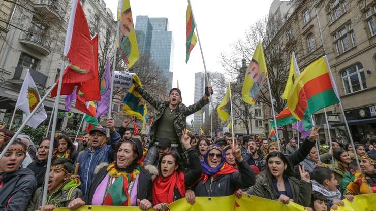 Tysiące Kurdów protestowały we Frankfurcie przeciwko planom Erdogana