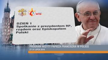 12-03-2016 14:17 Papież przyleci do Polski 27 lipca