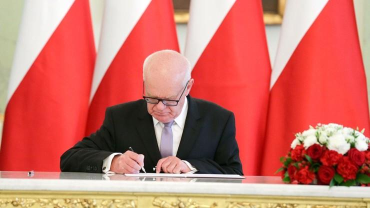 Prezydent odebrał ślubowanie od sędziego TK Andrzeja Zielonackiego