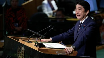 20-09-2017 21:54 Premier Japonii: czas rozmów z Koreą Północną się skończył