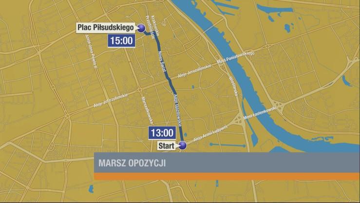 W Warszawie trzy duże pochody - będą utrudnienia w ruchu
