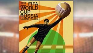 Rosyjski plakat na mundial 2018 inspirowany latami 20.