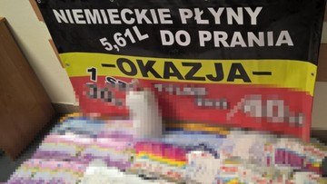 16-11-2016 07:05 Podrabiali proszek do prania i płyn do naczyń, zarobili na tym ok. miliona zł